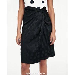 NWT Zara Basic Jacquard Polka Dot Skirt Size S